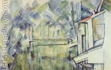 Mill at the river by Paul Cezanne - Reproduction Oil Painting