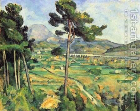Mount Sainte-Victoire as seen from Bellevue by Paul Cezanne - Reproduction Oil Painting