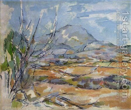 Mountain Saint-Victoire by Paul Cezanne - Reproduction Oil Painting