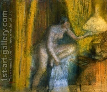 Before the Curtain Call 2 by Edgar Degas - Reproduction Oil Painting