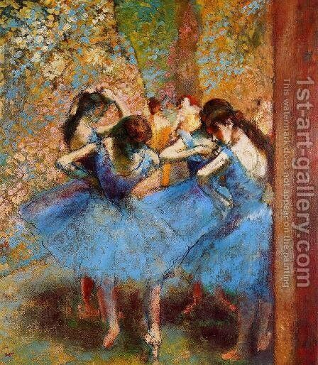 Blue Dancers by Edgar Degas - Reproduction Oil Painting