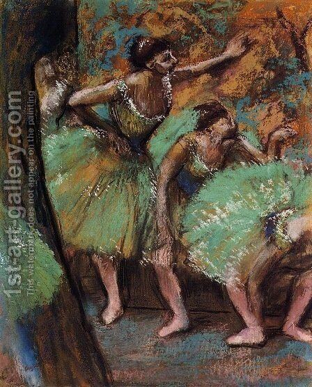 Dancers 3 by Edgar Degas - Reproduction Oil Painting