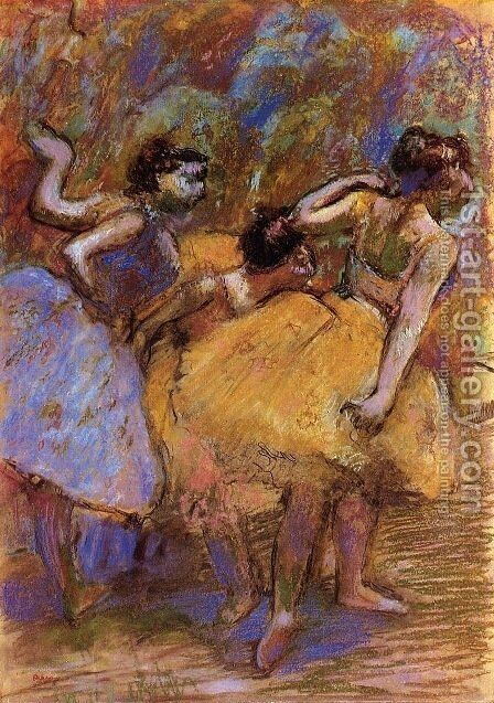 Dancers 7 by Edgar Degas - Reproduction Oil Painting