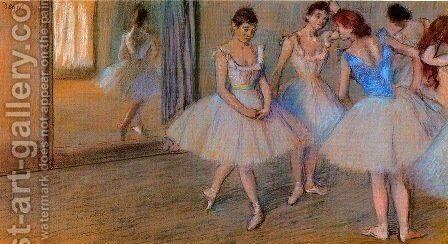 Dancers in a Studio 2 by Edgar Degas - Reproduction Oil Painting