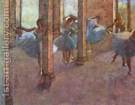 Dancers in the entrance hall by Edgar Degas - Reproduction Oil Painting