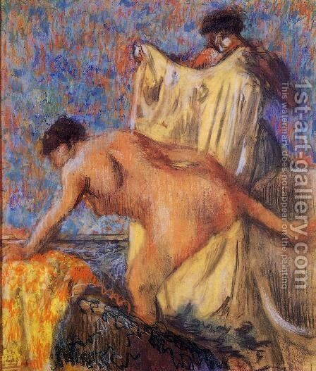 Door from the bath tub by Edgar Degas - Reproduction Oil Painting