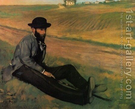 Eugene Manet (Brother to Edouard Manet by Edgar Degas - Reproduction Oil Painting