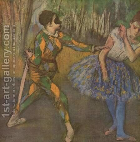 Harlekin and Colombine by Edgar Degas - Reproduction Oil Painting
