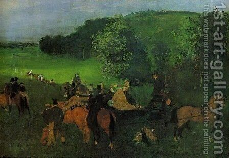 On the Racing Field by Edgar Degas - Reproduction Oil Painting