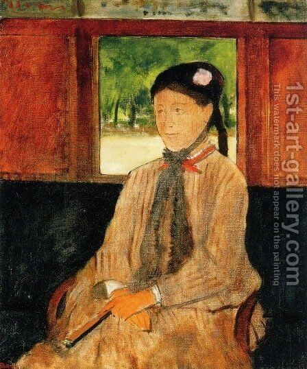 Portrait of a Woman 1 by Edgar Degas - Reproduction Oil Painting