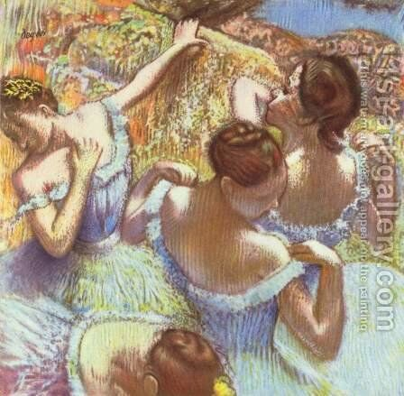 The Blue Dancers by Edgar Degas - Reproduction Oil Painting