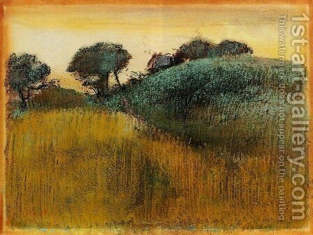 Wheatfield and Green Hill by Edgar Degas - Reproduction Oil Painting