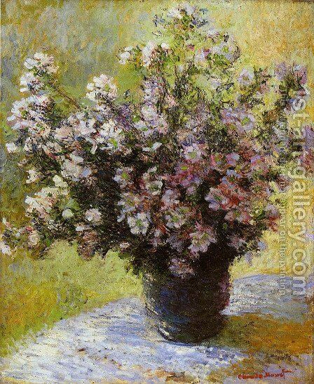 Bouquet of Mallows 2 by Claude Oscar Monet - Reproduction Oil Painting