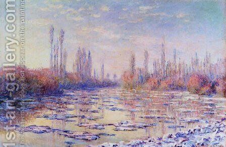 Floating Ice 1 by Claude Oscar Monet - Reproduction Oil Painting