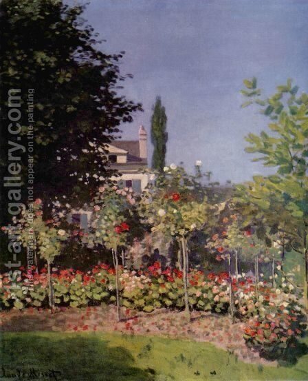 Garden in Flower by Claude Oscar Monet - Reproduction Oil Painting