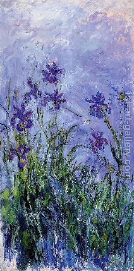 Lilac Irises 2 by Claude Oscar Monet - Reproduction Oil Painting
