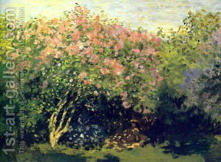 Lilacs, Grey Weather by Claude Oscar Monet - Reproduction Oil Painting