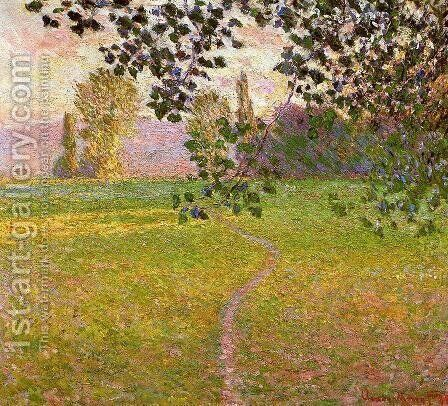 Morning Landscape, Giverny by Claude Oscar Monet - Reproduction Oil Painting
