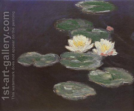 Nympheas (Waterlilies) by Claude Oscar Monet - Reproduction Oil Painting