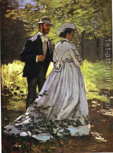 Study for 'Luncheon on the Grass' by Claude Oscar Monet - Reproduction Oil Painting