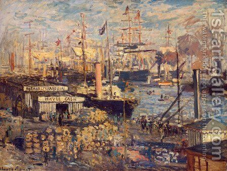 The Grand Quai At Le Havre 1874 by Claude Oscar Monet - Reproduction Oil Painting