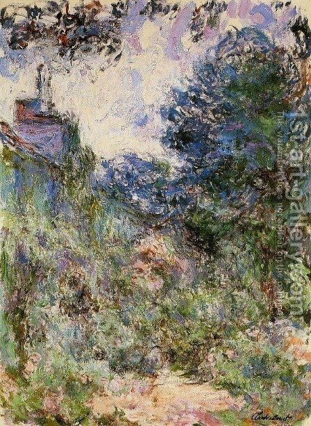 The House Seen from the Rose Garden 1 by Claude Oscar Monet - Reproduction Oil Painting