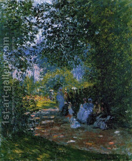 The Parc Monceau, Paris 3 by Claude Oscar Monet - Reproduction Oil Painting