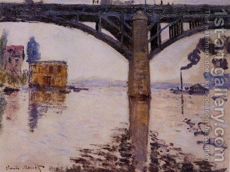 The Road Bridge at Argenteuil 2 by Claude Oscar Monet - Reproduction Oil Painting