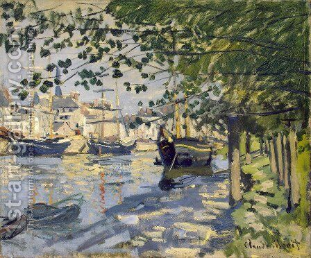 The Seine At Rouen 1872 by Claude Oscar Monet - Reproduction Oil Painting