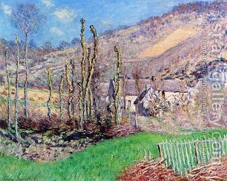 The Val de Falaise, Giverny by Claude Oscar Monet - Reproduction Oil Painting