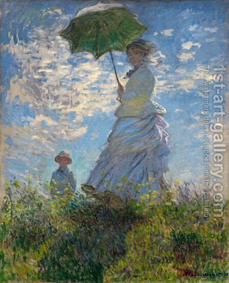The Woman With The Parasol by Claude Oscar Monet - Reproduction Oil Painting