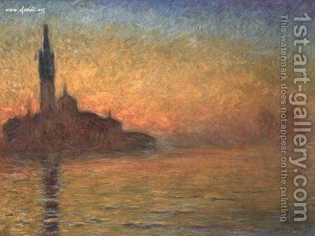 Tramonto a Venezia by Claude Oscar Monet - Reproduction Oil Painting