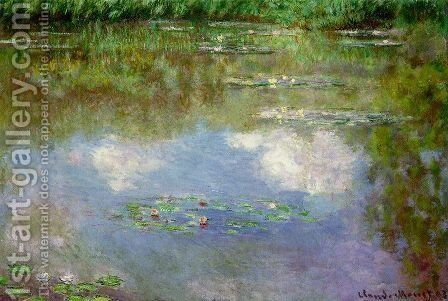 Water Lilies (The Clouds) (1903) by Claude Oscar Monet - Reproduction Oil Painting