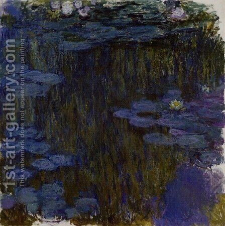 Water-Lilies 49 by Claude Oscar Monet - Reproduction Oil Painting