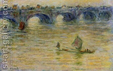 Waterloo Bridge 1 by Claude Oscar Monet - Reproduction Oil Painting