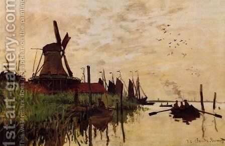 Windmill at Zaandam 1 by Claude Oscar Monet - Reproduction Oil Painting