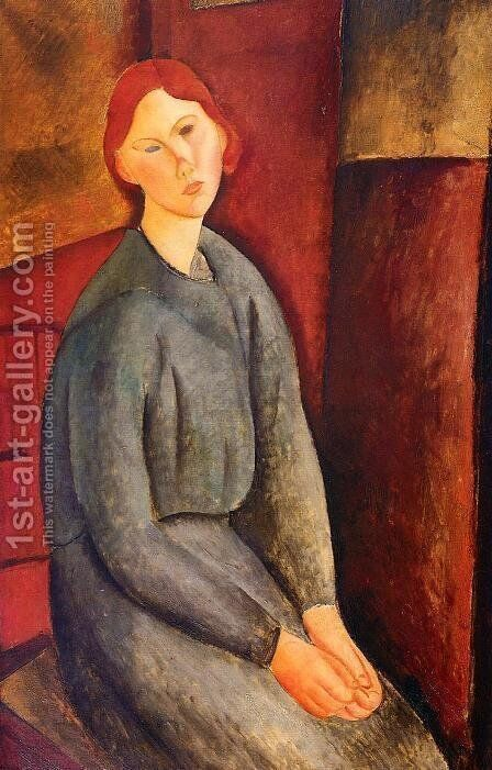 Annie Bjarne by Amedeo Modigliani - Reproduction Oil Painting