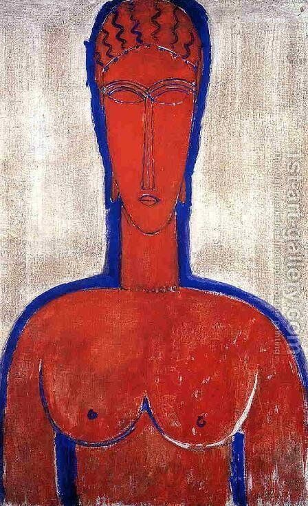 Big Red Buste (aka loopold II) by Amedeo Modigliani - Reproduction Oil Painting