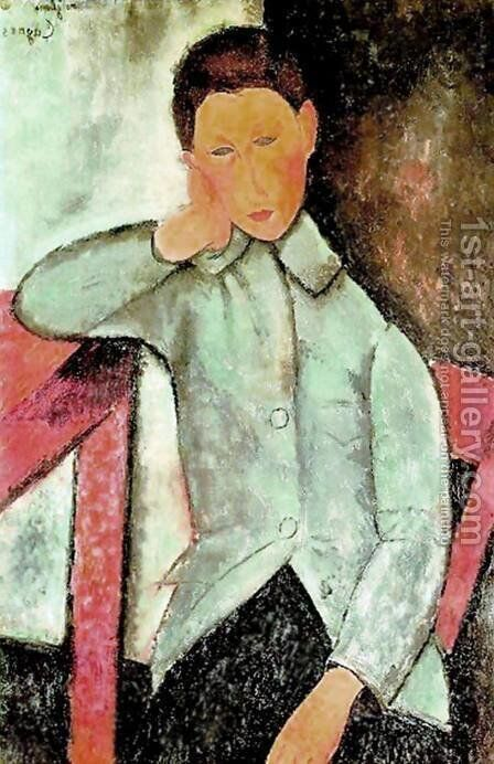 boy by Amedeo Modigliani - Reproduction Oil Painting