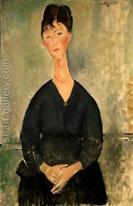 cafe singer 1920 by Amedeo Modigliani - Reproduction Oil Painting
