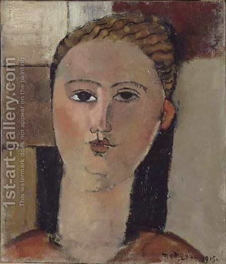 Fille rousse by Amedeo Modigliani - Reproduction Oil Painting
