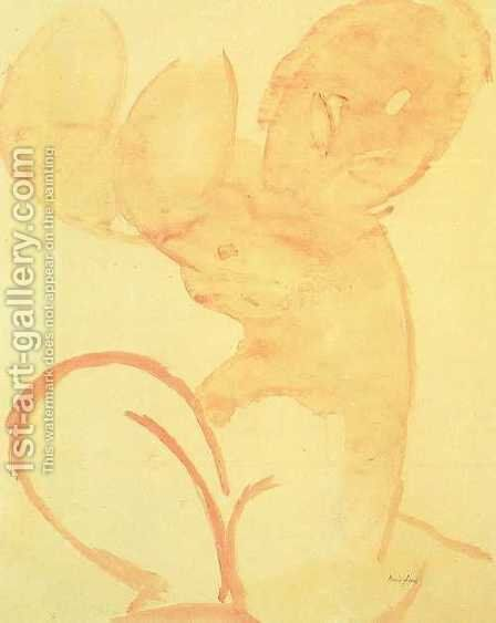 Karyatie in Rosa by Amedeo Modigliani - Reproduction Oil Painting