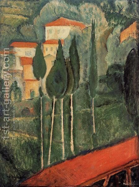 Landscape, Southern France by Amedeo Modigliani - Reproduction Oil Painting