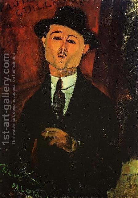 Paul Guillaume, Novo Pilota by Amedeo Modigliani - Reproduction Oil Painting