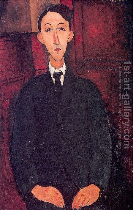 Portrait of a man by Amedeo Modigliani - Reproduction Oil Painting