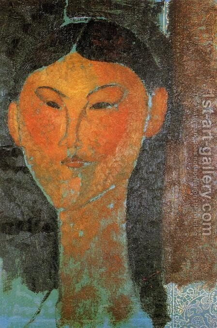 Portrait of Beatrice Hastings 3 by Amedeo Modigliani - Reproduction Oil Painting