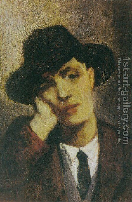 Portrait of Modigliani by Amedeo Modigliani - Reproduction Oil Painting