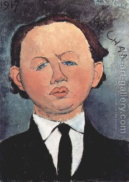 Portrait of the Mechanical by Amedeo Modigliani - Reproduction Oil Painting