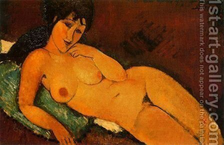 reclining nude 1917 by Amedeo Modigliani - Reproduction Oil Painting