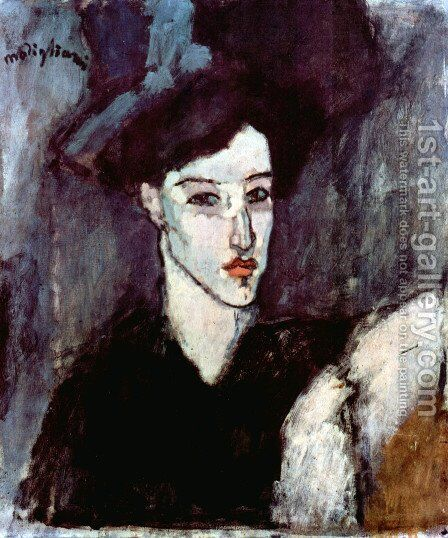 The Jewish Woman by Amedeo Modigliani - Reproduction Oil Painting